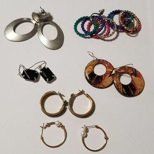 Jewelry - 6 pair earrings lot